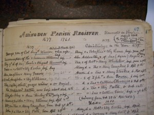 Hobday Register Abingdon Parish Gloucester VA 033
