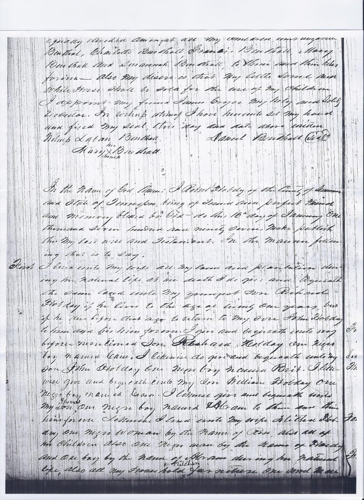 Will of Robert Hobday, 1797, pg. 1
