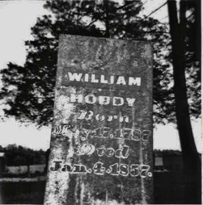 Wm Hobday 1787 1857 Tombstone
