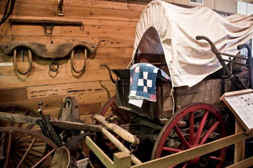The wagon that William & Martha (Wilson) Drinkard took to Oregon in 1865. It is now in the Linn Co., Oregon Museum