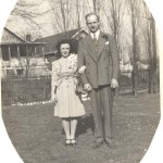 John and Nellie Powells wedding photo Nov 1940