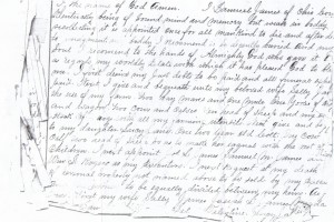 Will of Samuel Mosby James pg 1