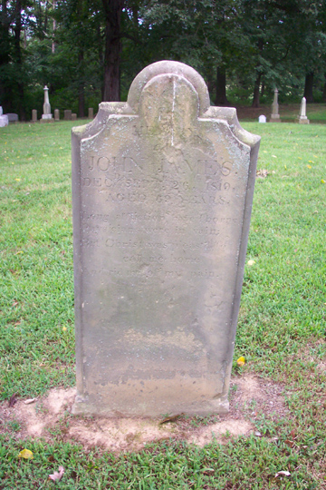 Tombstone Of John James 1688 1725 The Heritage Lady