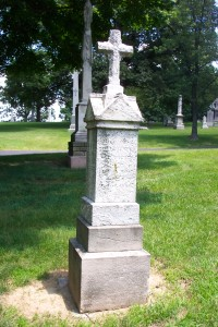 The WIRTZ tombstone in Calvary Cemetery in St. Louis