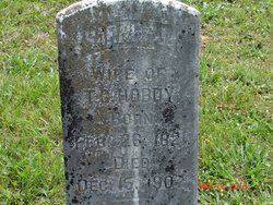 Tombstone of Sarah Jane McGlothlin Hobdy