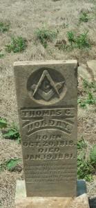 Tombstone of Thomas Cotton Hobday, son of William