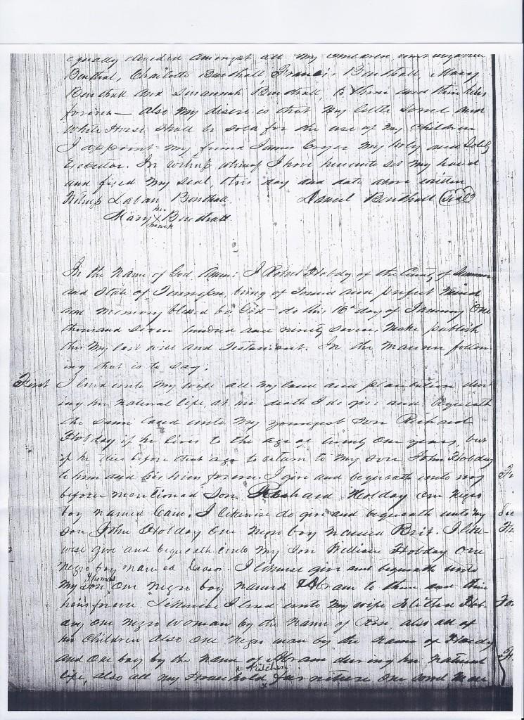 Will of Robert Hobday, 1797, pg. 1
