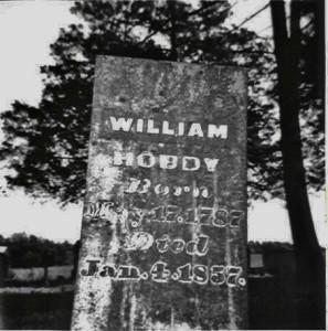 Wm Hobday 1787 1857 Tombstone