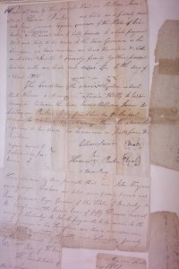 "Marriage bond of William ""Billy"" James and Catherine Parker, 6 Apr 1801, Ohio Co., Kentucky. The first marriage recorded in Ohio County."
