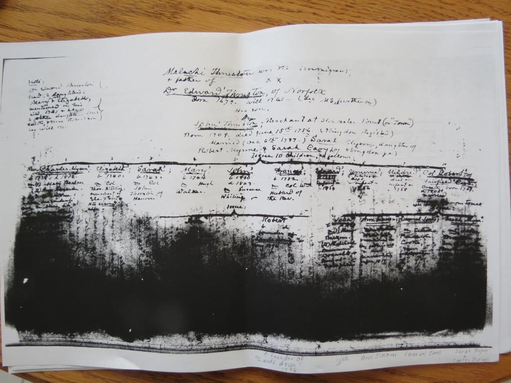 Genealogy charts from Rockefeller Lib 001