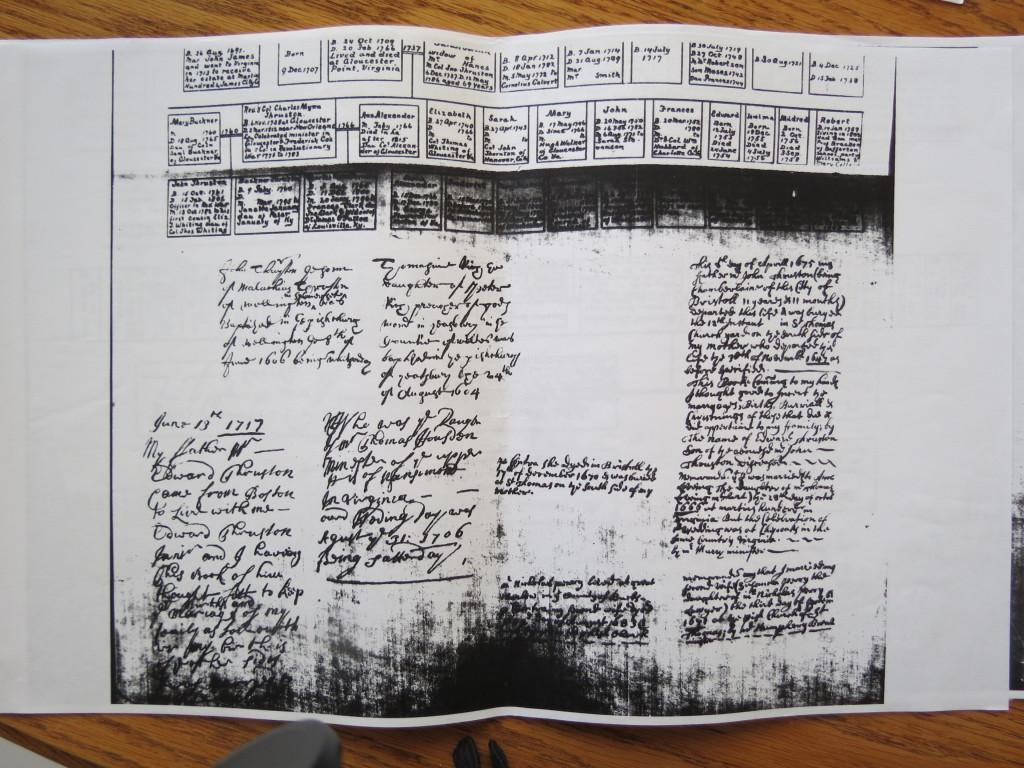 Genealogy charts from Rockefeller Lib 010