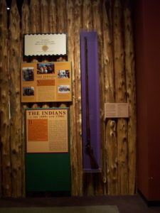 The Woodson rifle at the Virginia Historical Society. Photo taken by me in 2008