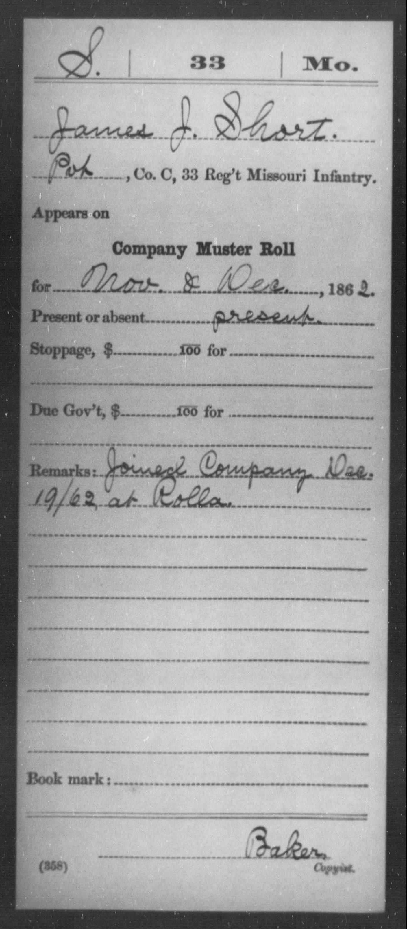 SHORT Family of Georgia & Missouri - The Heritage Lady